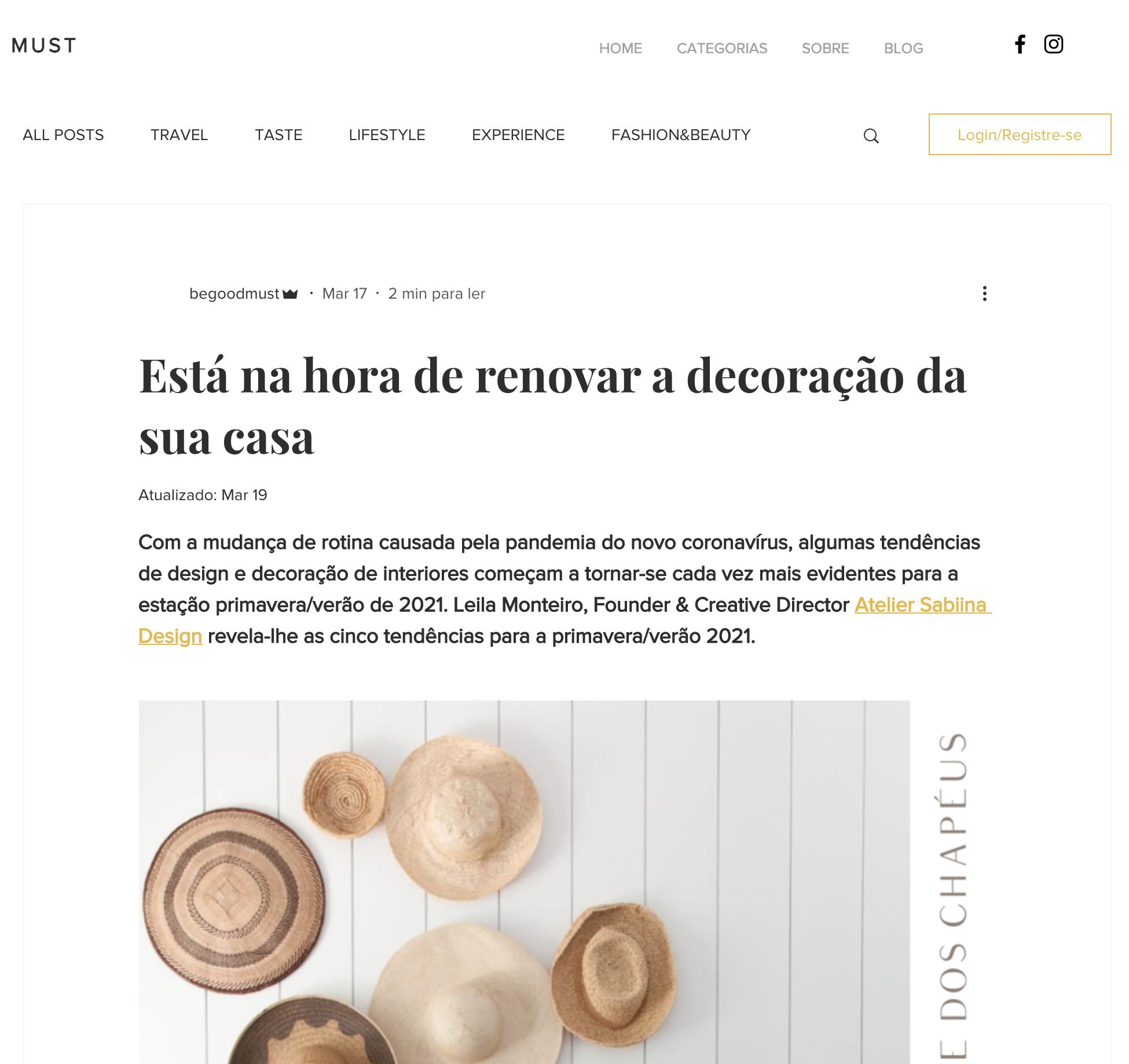 mustgood - Sabiina Design Atelier